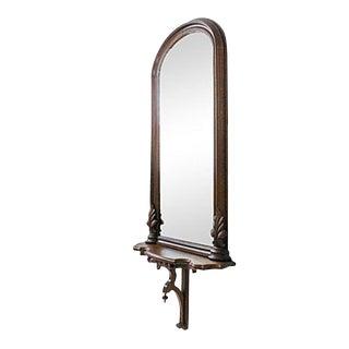 Antique Walnut Pier Mirror, C. 1900 For Sale