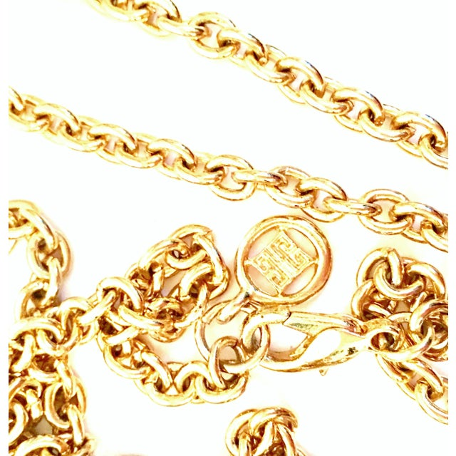 "Black 20th Century Gold & Enamel ""G"" Logo Reversible Givenchy Pendant Necklace For Sale - Image 8 of 9"