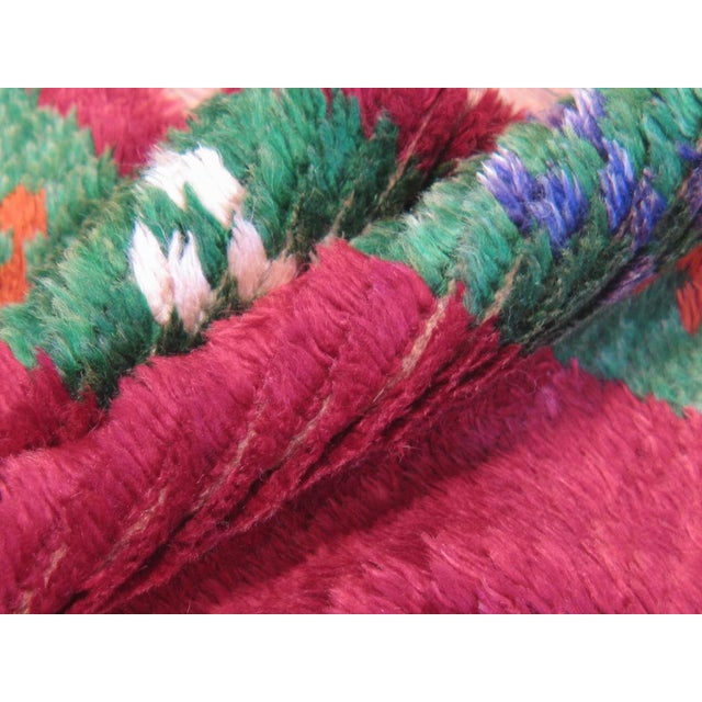 Textile Red Tulu with Green Border For Sale - Image 7 of 7