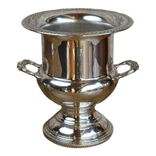 Vintage Silverplated Trophy Form Champagne Ice Bucket For Sale
