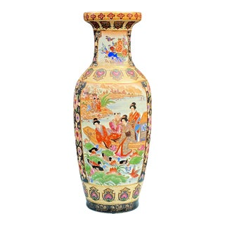 Royal Satsuma Hand Painted Vase For Sale