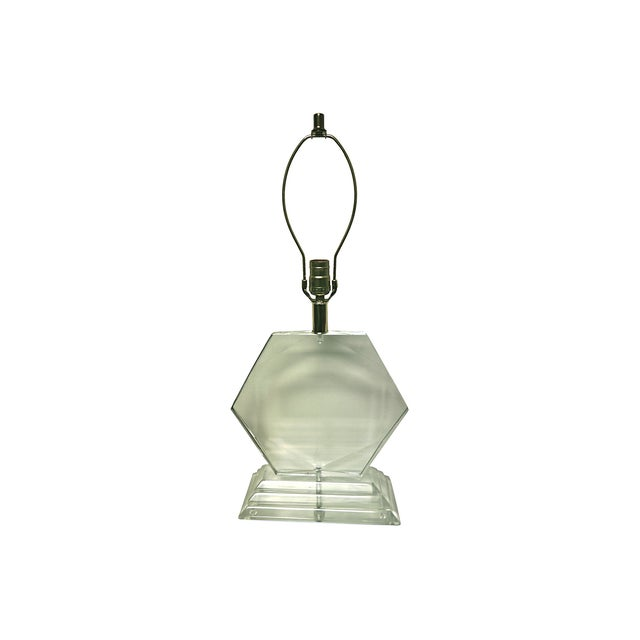 Van Teal Hexagonal Lucite Lamp - Image 5 of 6