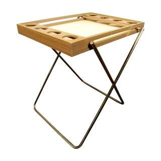 Vintage Mid Century Folding Bar Tray