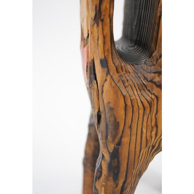 Wood Vintage Mid-Century Wood Llama Magazine Caddy For Sale - Image 7 of 10