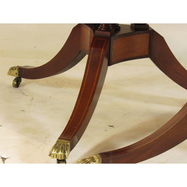 Gold 20th Century Regency Style Inlaid Dining Table For Sale - Image 8 of 11