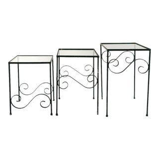 1930s Nesting Garden Tables - Set of 3 For Sale
