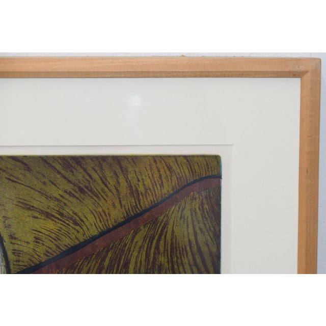 Purple Roland Petersen Original Abstract Etching W/ Aquatint C.1970s For Sale - Image 8 of 12