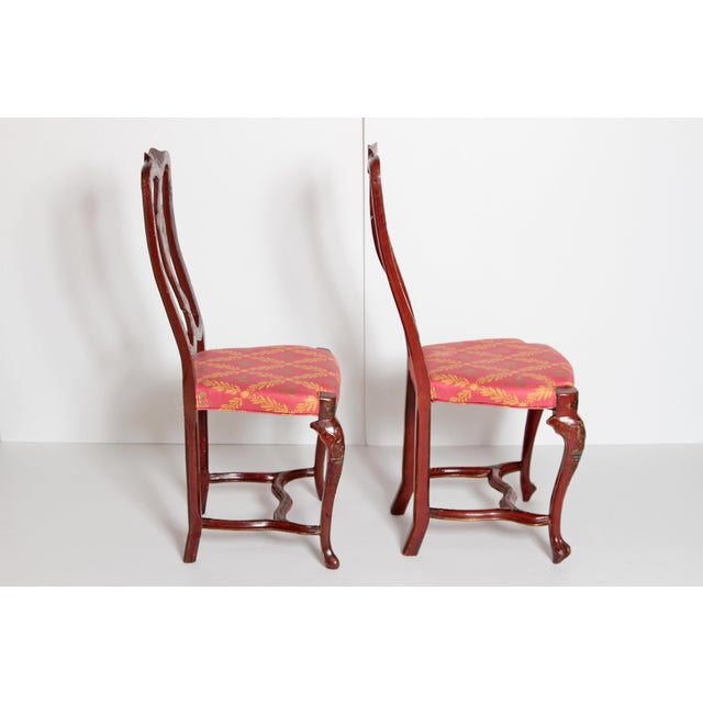 Pair of English Side Chairs For Sale - Image 9 of 13