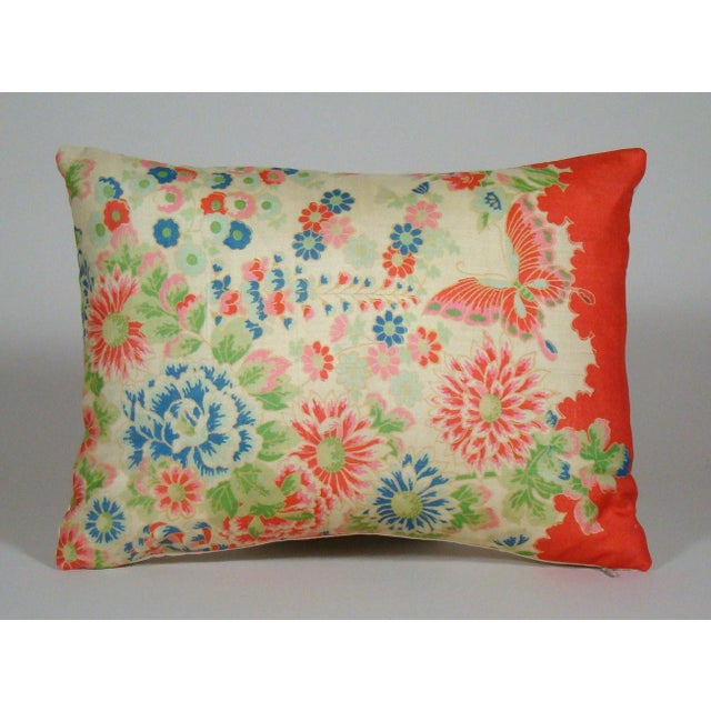 Chinese Silk Floral Lumbar Pillow Cover For Sale - Image 9 of 9