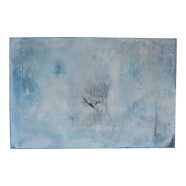 Blue Veil. Original Mixed Media Oil on Canvas by C. Damien Fox 2018 - Image 1 of 9