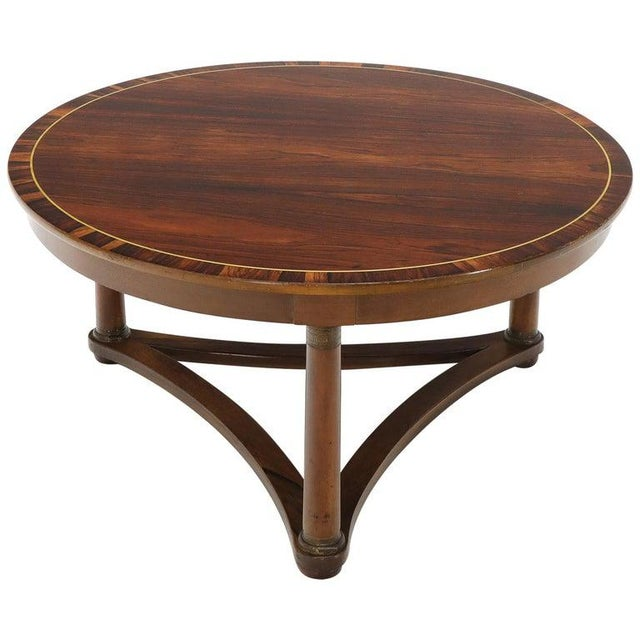 Round Rosewood Neoclassical Rosewood Banded Top Coffee Center Table For Sale - Image 11 of 11