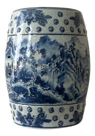 Image of Blue and White Garden Stools