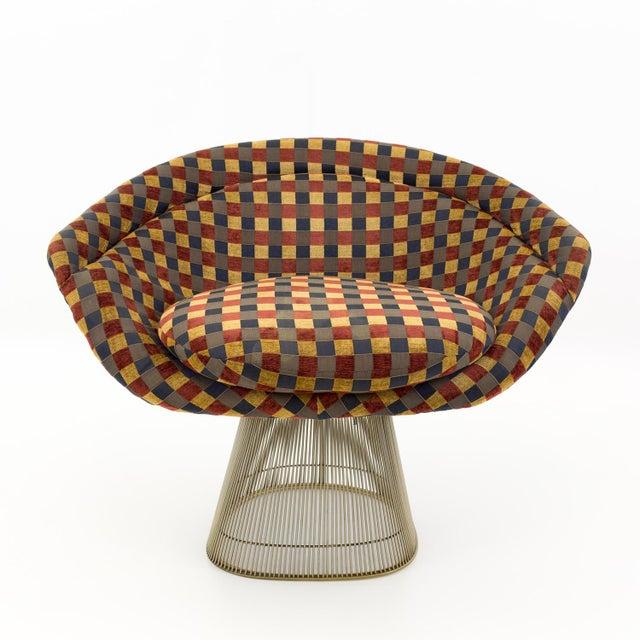 Warren Platner mid century modern lounge chairs. A matching pair. Each chair measures 37.5 wide x 26.5 deep x 30.5 high...