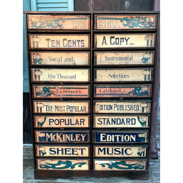 1920s Era Sheet Music Cabinet For Sale - Image 6 of 12