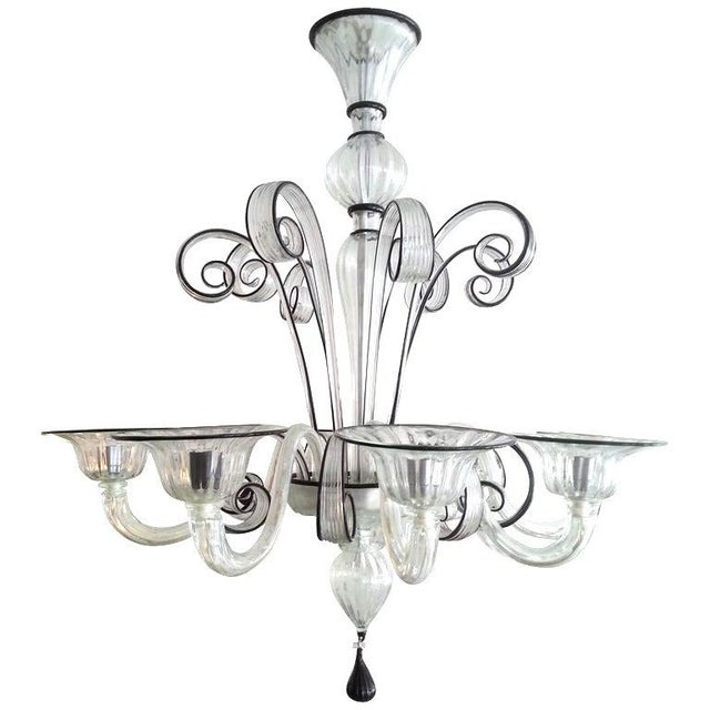 Vintage Murano Louis XV Style Chandelier For Sale - Image 13 of 13