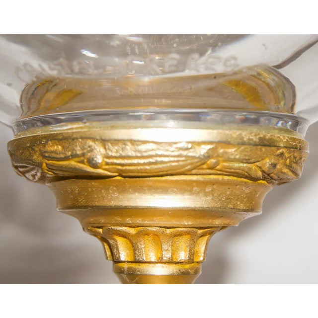 French Louis XVI Signed Bronze Mounted Crystal Vase, Early 19th C. For Sale - Image 4 of 13