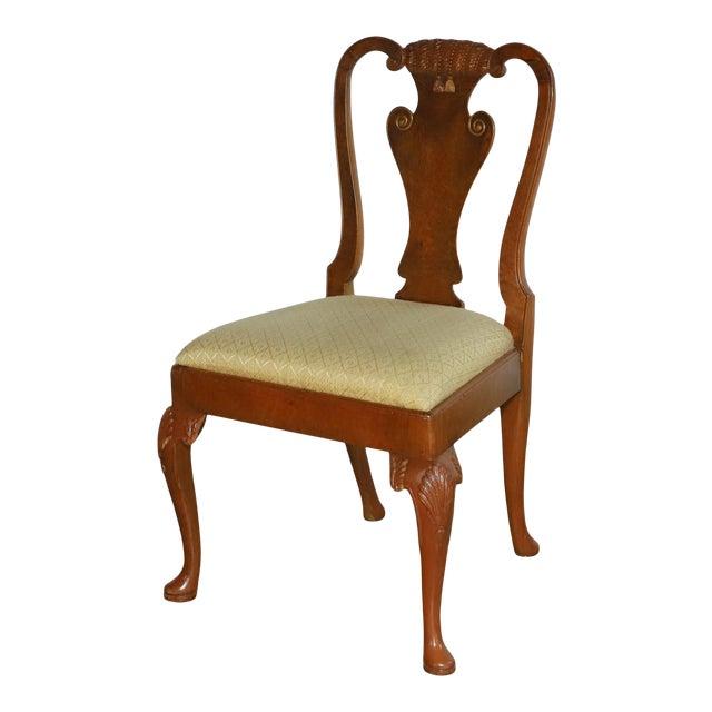 Original 1930s Burlwood Maple Side Chair For Sale