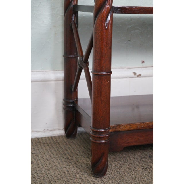 Custom Quality Mahogany Console Etagere For Sale - Image 5 of 10