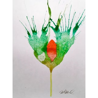October Botanical Watercolor Painting