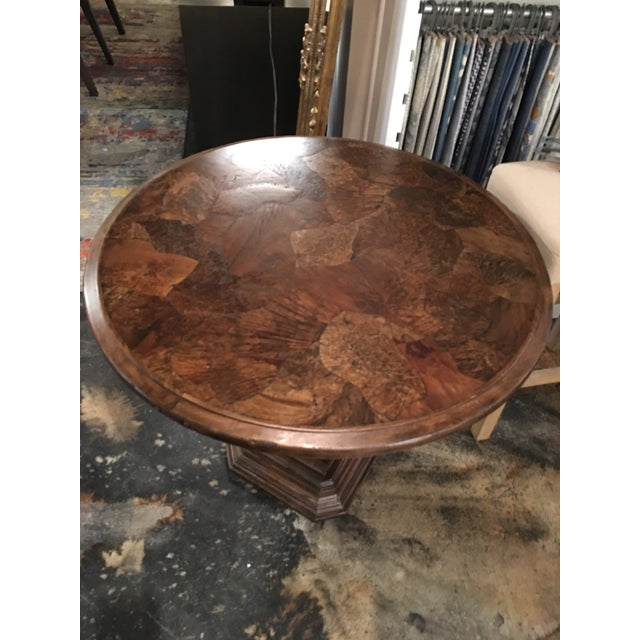 Traditional Taracea Zola Lamp Table For Sale - Image 10 of 13