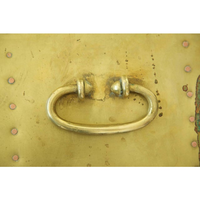 Brass Sarreid Brass Cube End Tables For Sale - Image 7 of 8