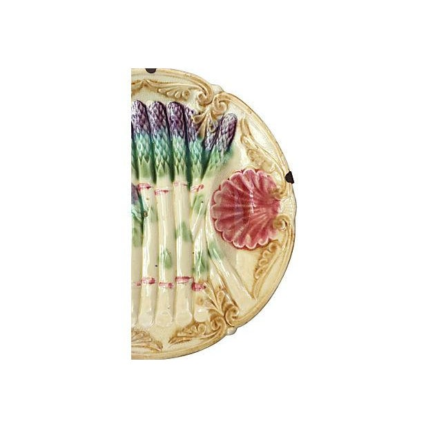 Victorian Majolica Asparagus Plate - Image 2 of 6