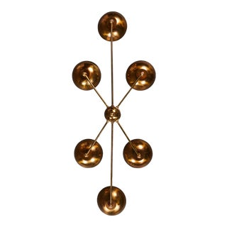 A Remarkable Italian Brass Flush Mount Fixture For Sale