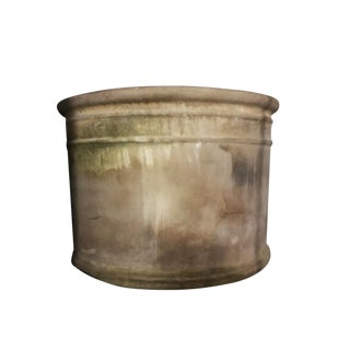 20th Century Rustic Ceramic Barrel Planter For Sale