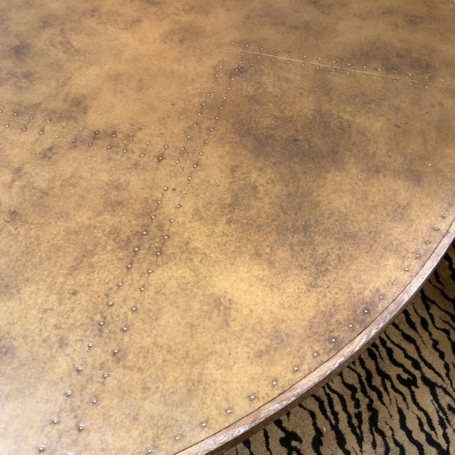 Four Hands Powell Pedestal Dining Table For Sale - Image 4 of 12