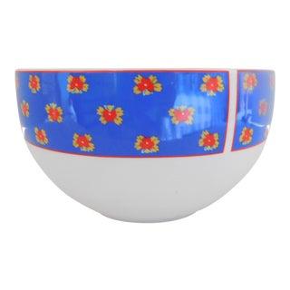 1990s Block Arles Ceramic Vintage Veggie Bowl For Sale