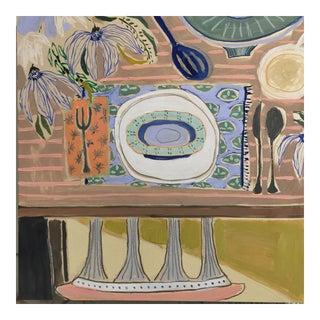Original Lulie Wallace Tablescape Painting For Sale