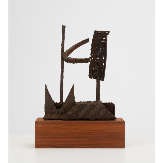 Mounted Brutalist Figurine For Sale - Image 11 of 11