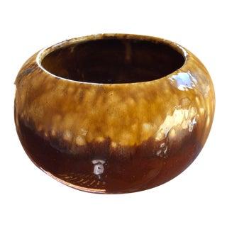 Frank Moreno Mid Century Fat Lava Drip Glaze Art Pottery Bowl For Sale