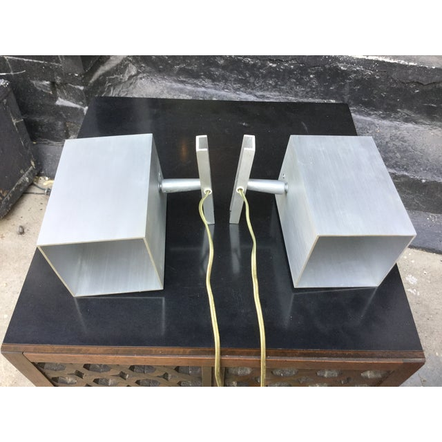 1960's Modern Aluminum Sconces - Pair - Image 4 of 7