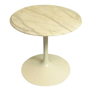 Vintage Mid Century Marble Accent Table For Sale