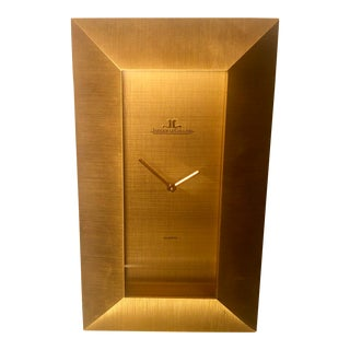 Jaeger Le Coultre Swiss Made Mid-Century Modern Desk Clock For Sale