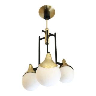 1960s Stilnovo Pendant with Three Globes For Sale
