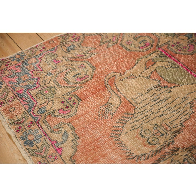 """Old New House Vintage Distressed Oushak Rug - 4'6"""" X 6'11"""" For Sale - Image 4 of 11"""