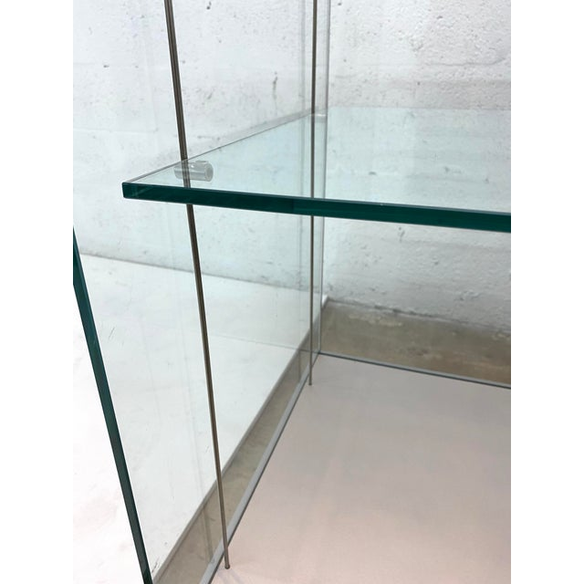 Contemporary Glass Curio / Vitrine With Spot Lamp For Sale - Image 10 of 13