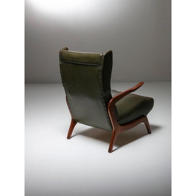 1950s Set of Two Bergères With Footrest For Sale - Image 5 of 11