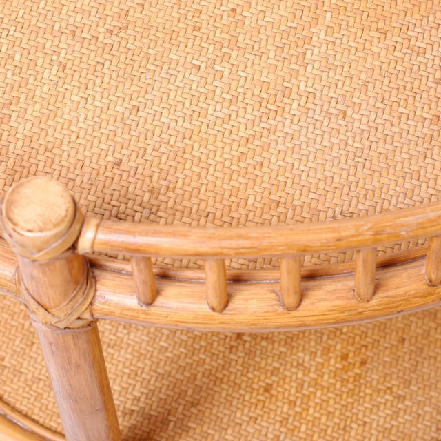 Midcentury British Colonial Style Stands or Carts - A Pair For Sale - Image 4 of 10