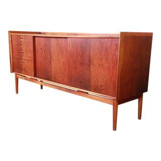 Danish Modern Rosewood Sideboard Credenza in the Manner of Arne Vodder, 1960s For Sale