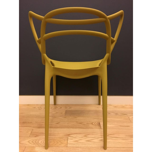 Kartell Kartell Mustard Yellow Masters Chairs - Set of 4 For Sale - Image 4 of 9