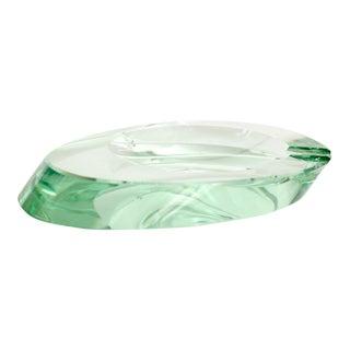 Fontana Arte Italian Murano Glass Ashtray Dish Vide Poche For Sale