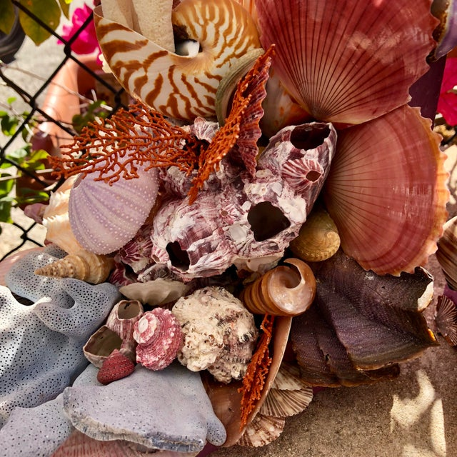 Leather Seashell-Encrusted Bookends - A Pair For Sale - Image 7 of 8