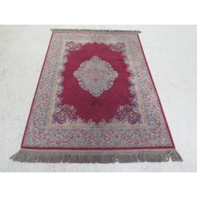 1980s Karastan Red Kirman Area Rug - 4′4″ × 6′9″ For Sale - Image 13 of 13