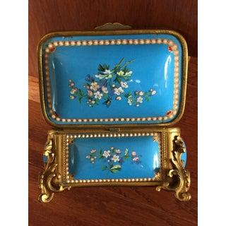 19th Century French Kiln-Fired Enamel Jewelry Casket Preview