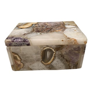 Agate Stone Lidded Box For Sale