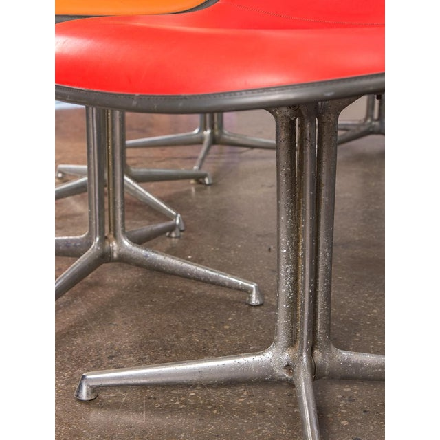 Chrome Red La Fonda Eames Chair for Herman Miller For Sale - Image 7 of 11