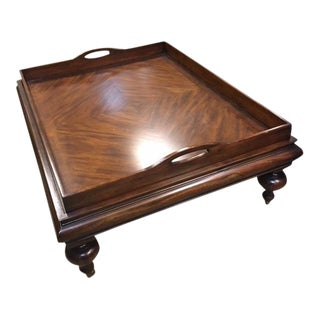 Traditional Restoration Hardware Estate Tray Coffee Table For Sale